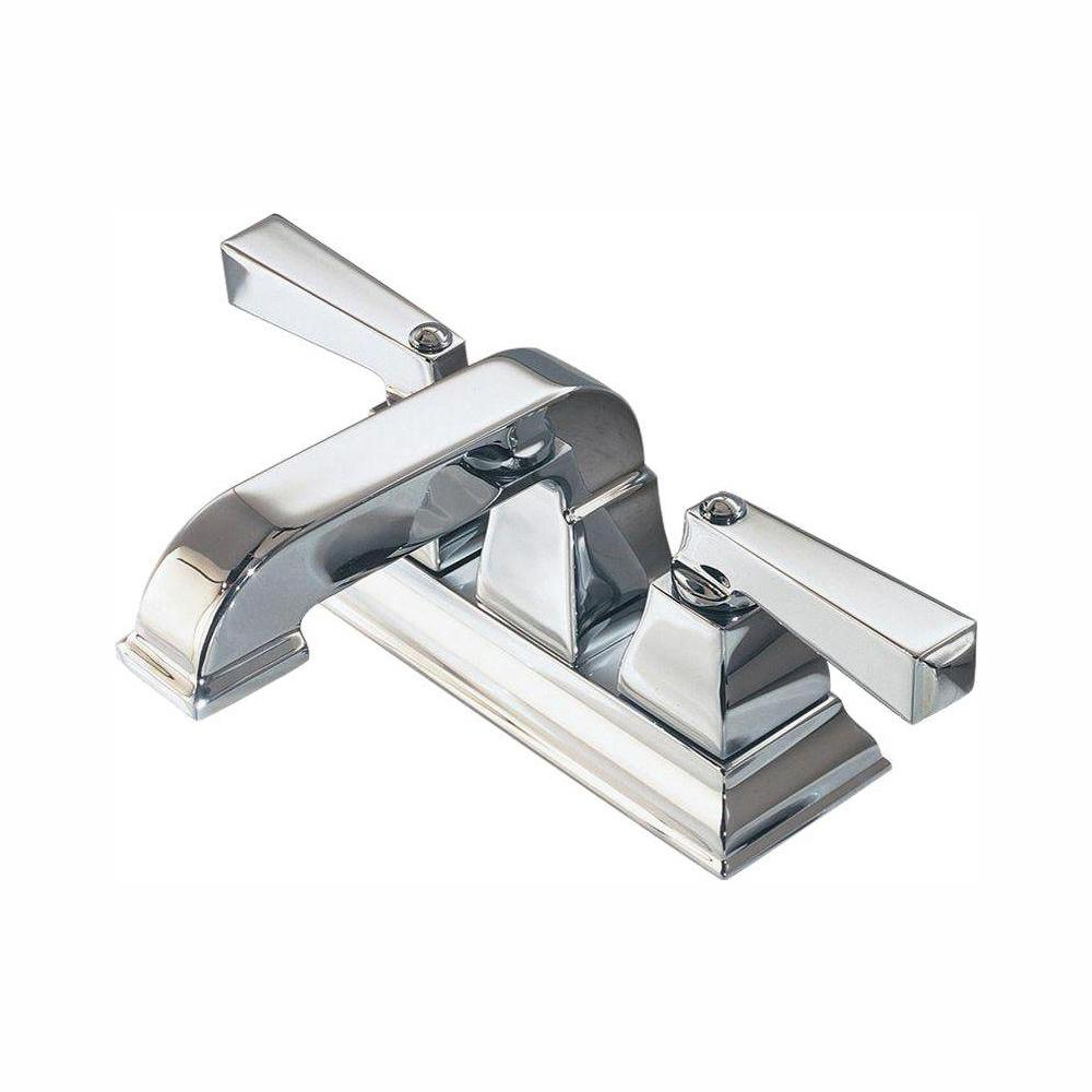 American Standard Town Square 4 in. Centerset 2-Handle Low-Arc Bathroom Faucet in Polished Chrome