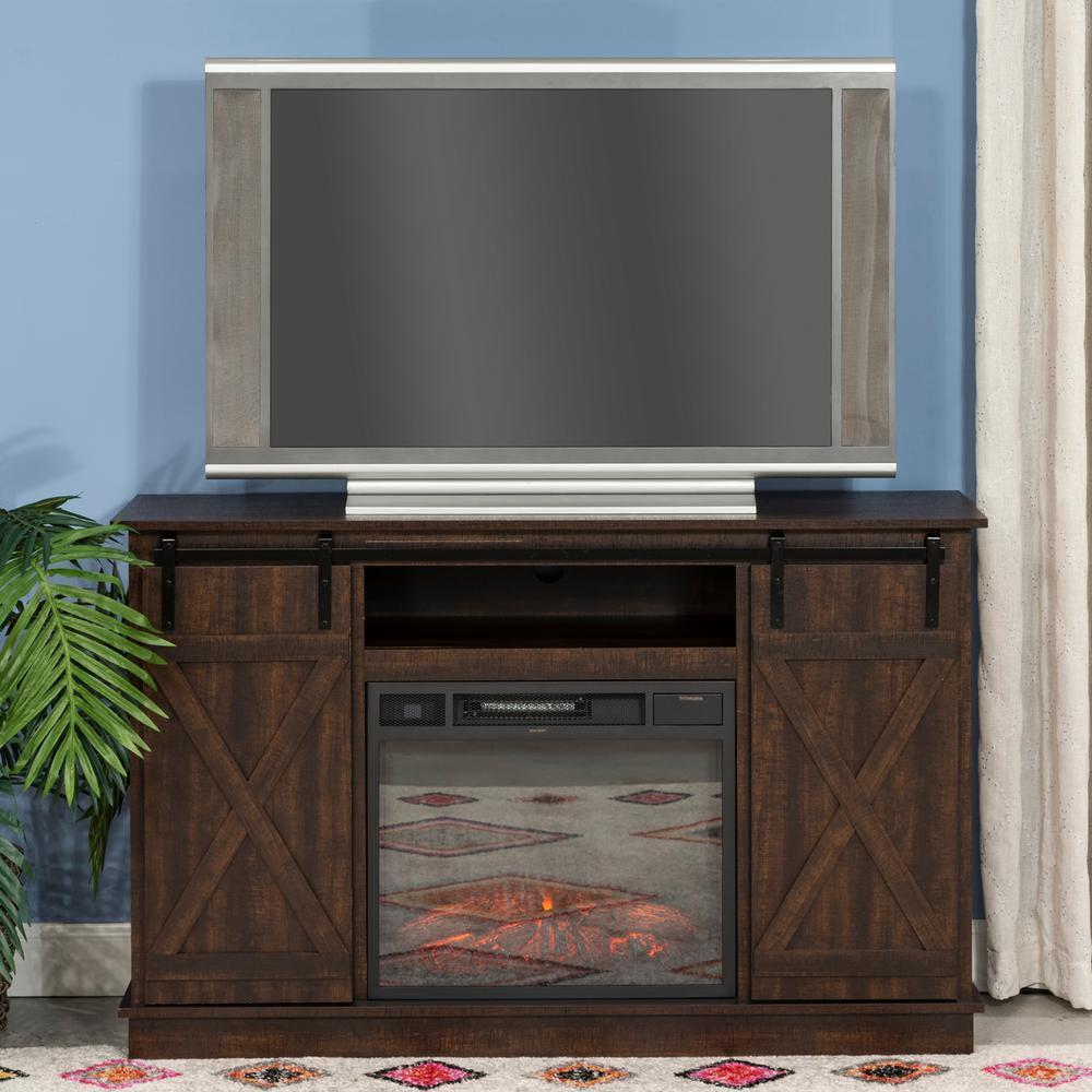 Home SourceToni Espresso TV Standwith Barnyard Doors