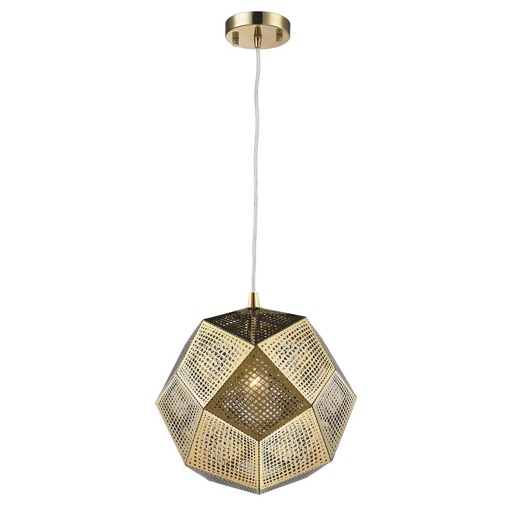 Worldwide Lighting Geometrics 1-Light Rose Gold Pendant