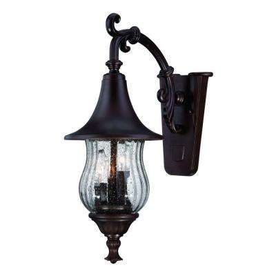 Del Rio Collection 3-Light Architectural Bronze Outdoor Wall Mount Light Fixture