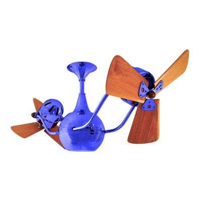 Vent-Bettina 44 in. Indoor/Outdoor Blue Ceiling Fan with Wall Control