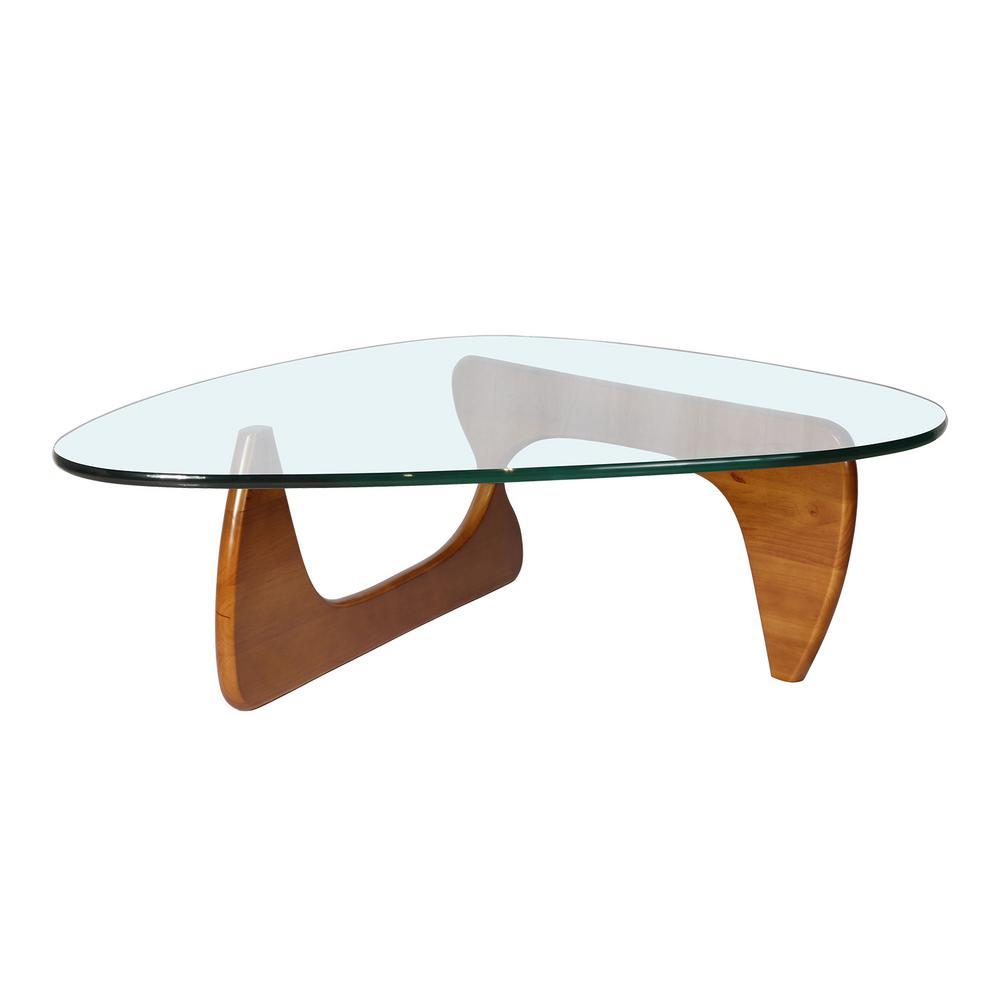 Height Walnut Triangle Coffee Table