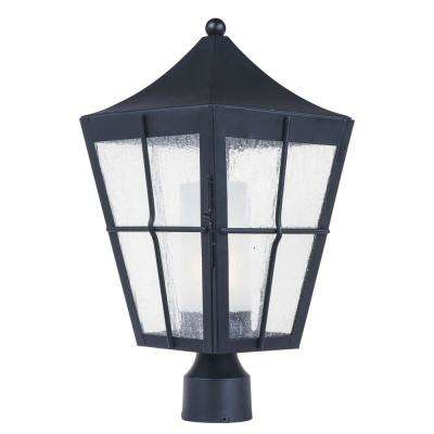 Revere 9 in. Wide 1-Light Outdoor Black Post Light