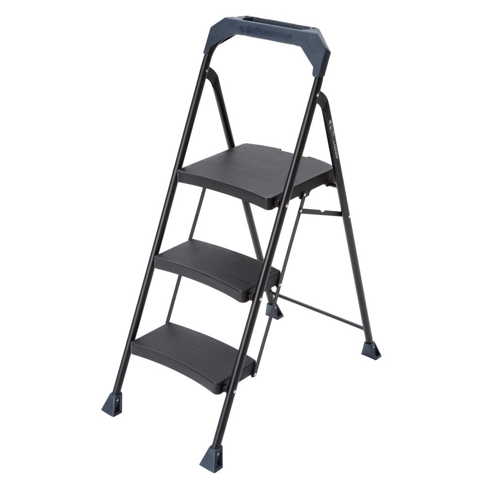 Gorilla Ladders 3 Step Steel Step Stool With 250 Lb. Load Capacity Type I  Duty Rating GLS 3HD 2   The Home Depot