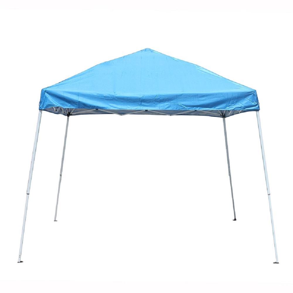 Pop Up Canopy Tent >> Aleko 8 Ft X 8 Ft Blue Pop Up Canopy Tent