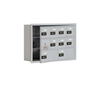 19100 Series 29.25 in. W x 18.75 in. H x 5.75 in. D 9 Doors Cell Phone Locker R-Mount Resettable Locks in Aluminum