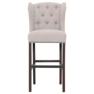 Maison 30 in. Birch Fabric, Espresso Bar Stool