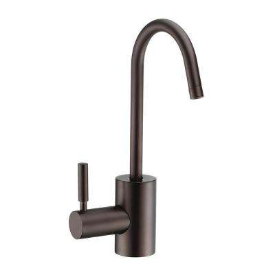 Single Handle Instant Hot Water Dispenser with Contemporary Spout and Self Closing Handle in Oil Rubbed Bronze