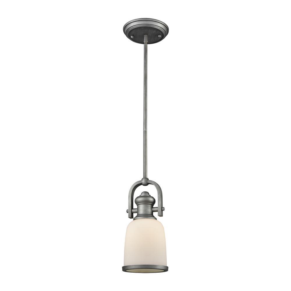Titan Lighting Brooksdale 1-Light Weathered Zinc With