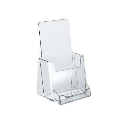 4 in. W x 7.25 in. H Trifold Brochure Holder with Business Card Pocket