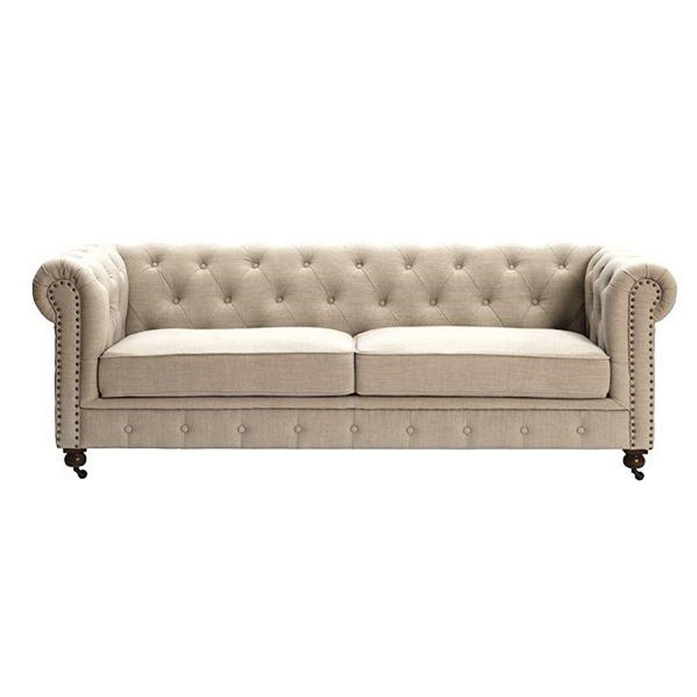 Home Decorators Collection Gordon Natural Linen Sofa
