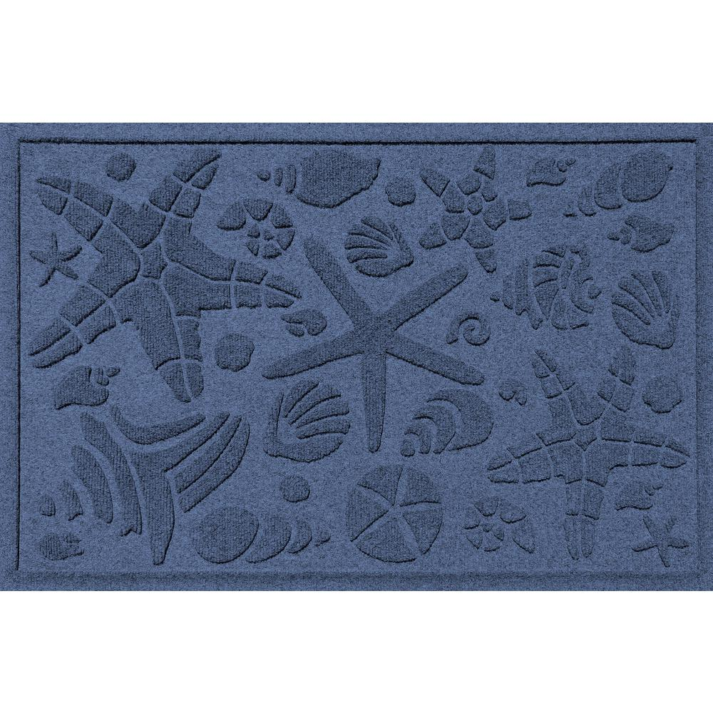 Aqua Shield Navy 24 in. x 36 in. Beachcomber Polypropylene Door Mat