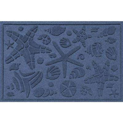 Navy 24 in. x 36 in. Beachcomber Polypropylene Door Mat