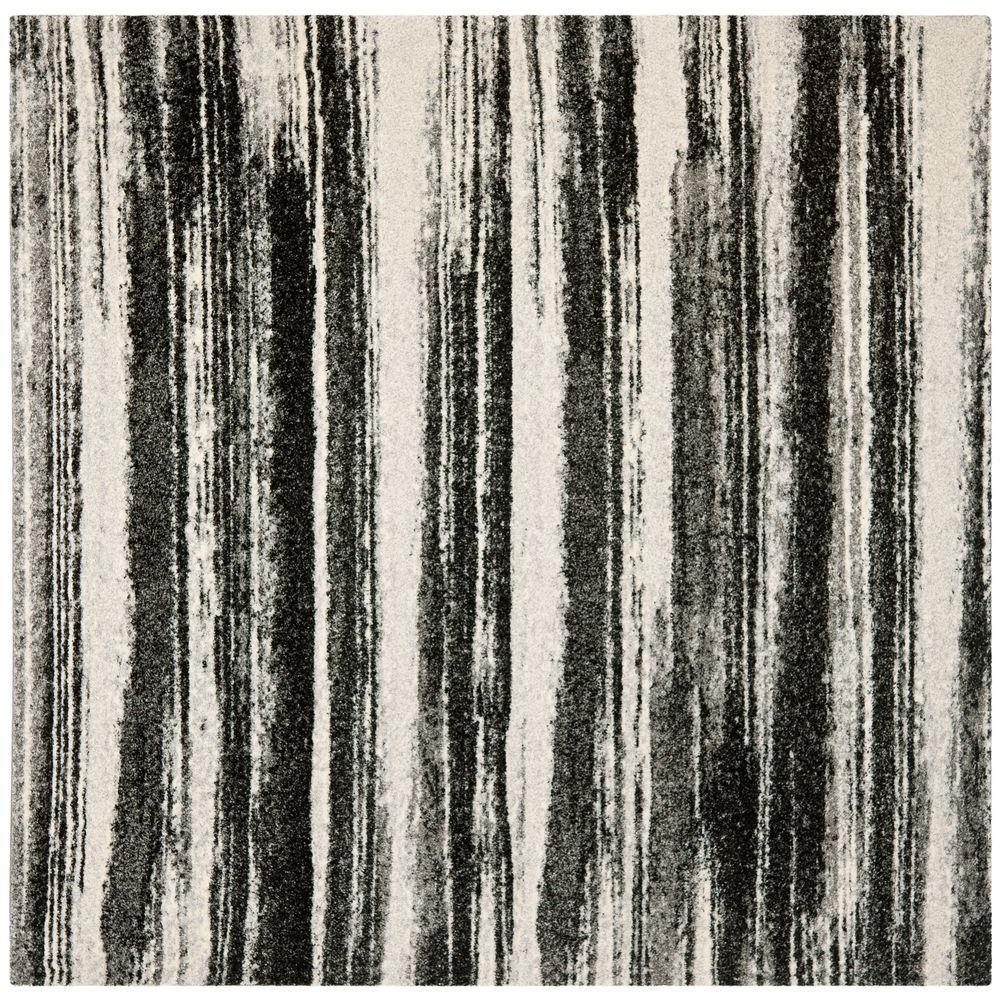Safavieh Retro Dark Grey/Light Grey 8 ft. x 8 ft. Square Area Rug