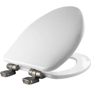 Bemis Slow Close Elongated Closed Front Toilet Seat in White by BEMIS