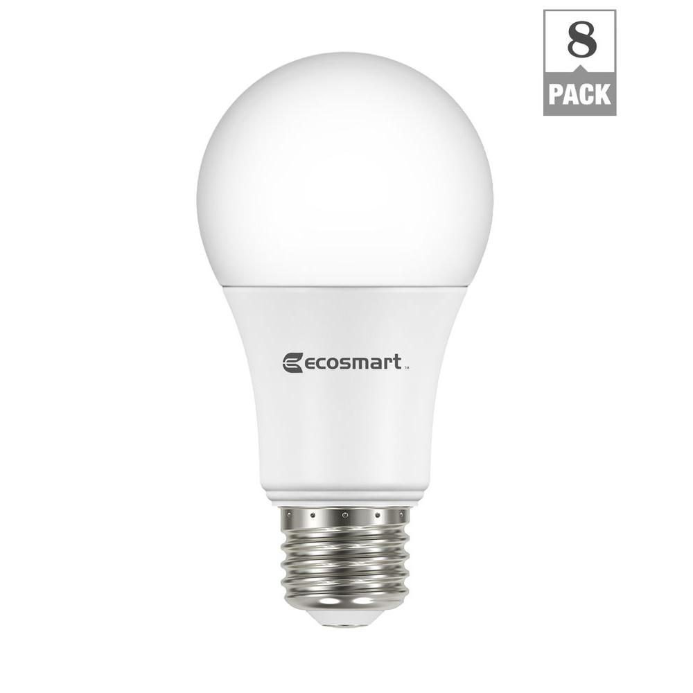 Home Depot Led Light Bulbs: EcoSmart 60-Watt Equivalent Soft White A19 Non Dimmable