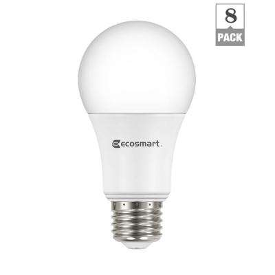 60-Watt Equivalent Soft White A19 Non Dimmable LED Light Bulb (8-Pack)