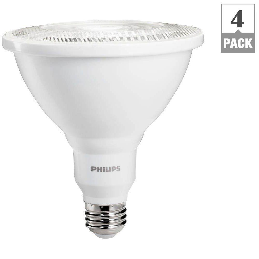 100W Equivalent Daylight PAR38 Ambient LED Indoor/Outdoor Flood Light (4-Pack)