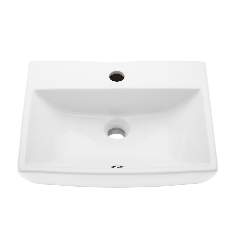 Astounding Swiss Madison Sublime Compact Ceramic Wall Hung Sink In Home Interior And Landscaping Sapresignezvosmurscom