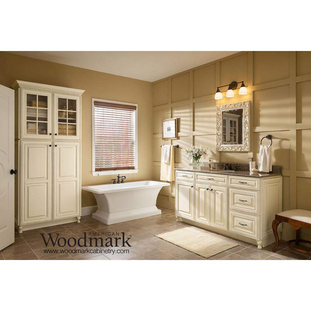 American Woodmark 14-9/16x14-1/2 in. Cabinet Door Sample in Savannah  Painted Hazelnut Glaze