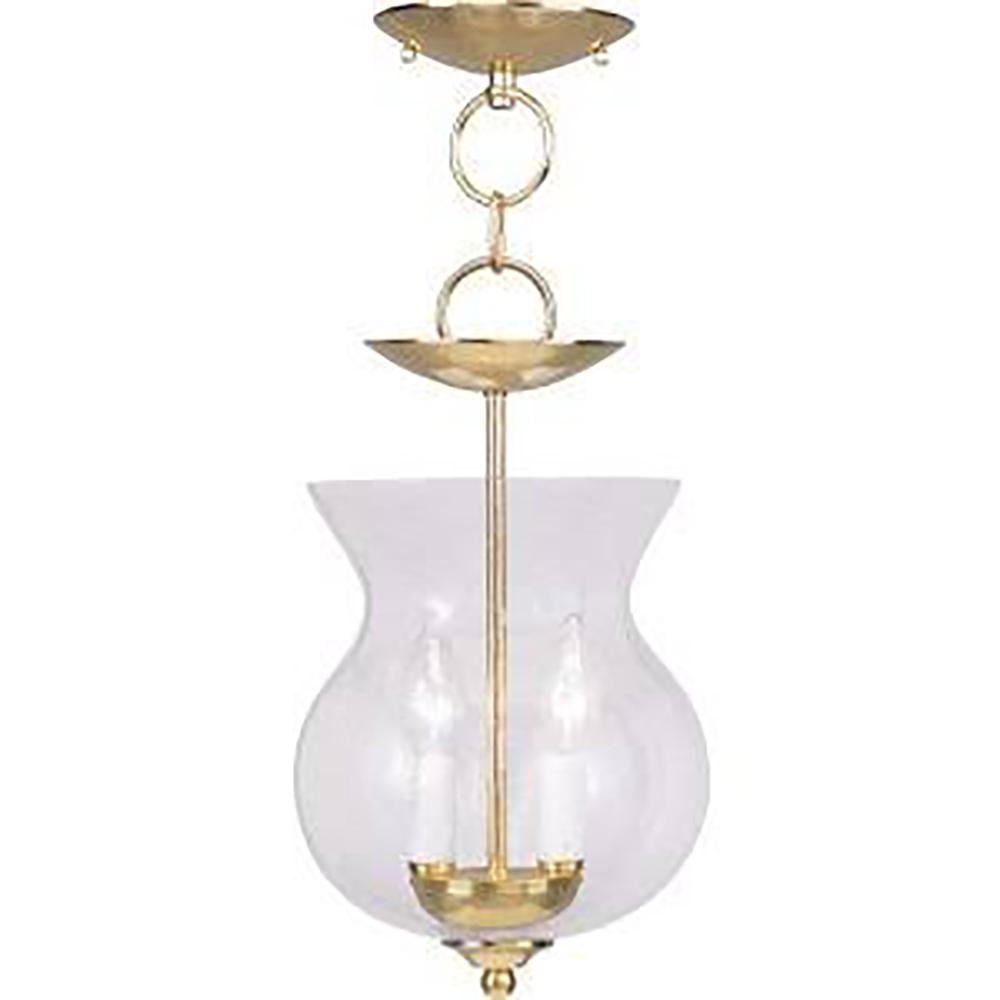 Legacy 2-Light Polished Brass Pendant