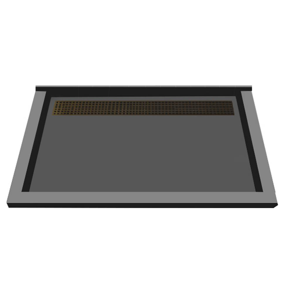 Redi Trench 34 In X 48 In Triple Threshold Shower Base With Back