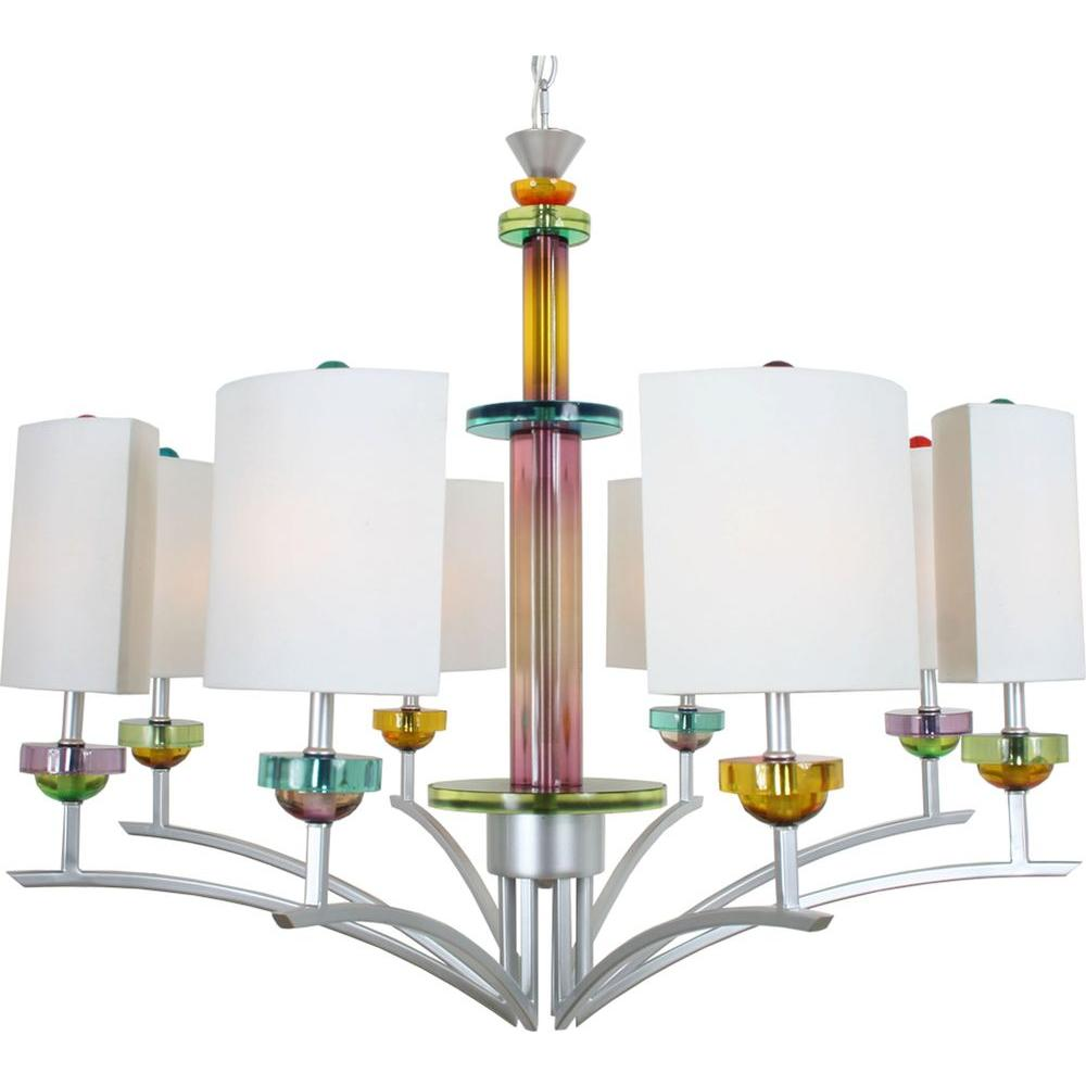 Filament Design Century 8-Light Brilliant Silver Chandelier