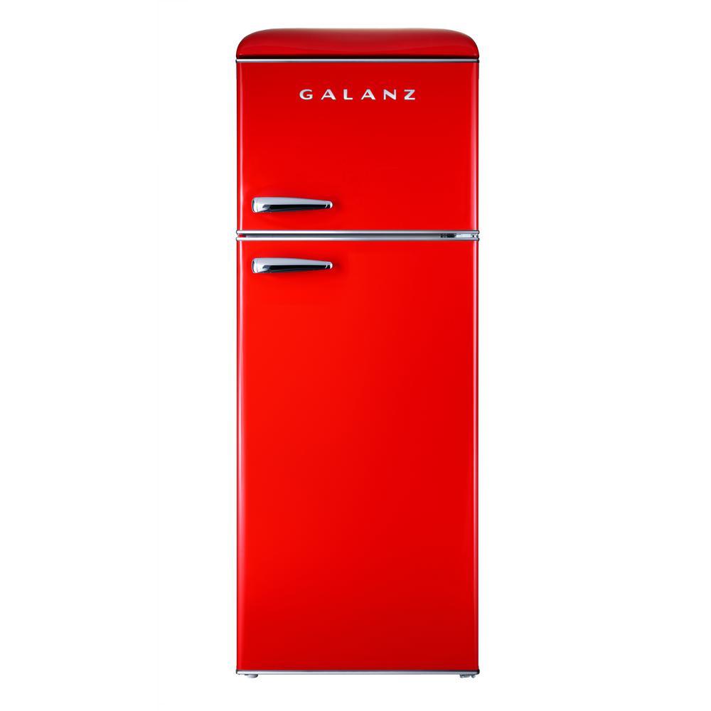 Galanz 7 6 cu  ft  Mini Retro Fridge in Red