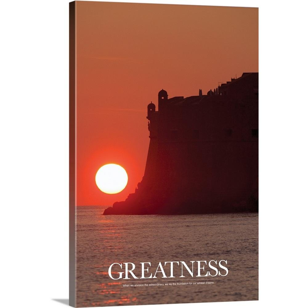 """Inspirational Poster: Greatness"" by Kate Lillyson Canvas Wall Art"