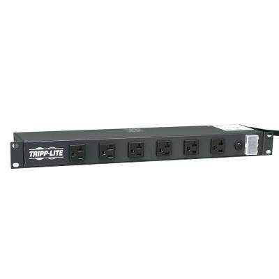 Power Strip Rackmount Metal 120-Volt 5-15/20R 12-Outlet 15 ft. Cord 1U