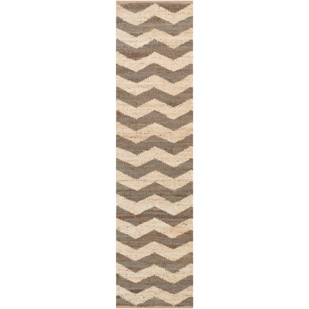 Portico Sadie Chocolate 2 ft. 3 in. x 12 ft. Indoor