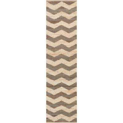 Portico Sadie Chocolate 2 ft. x 8 ft. Indoor Runner Rug