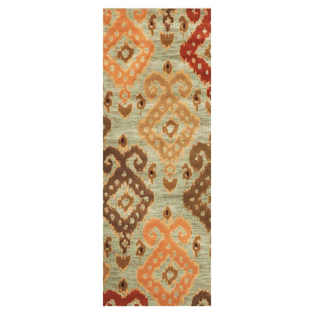 Home Decorators Collection Anna Blue 2 Ft 2 In X 7 Ft 11 In Rug Runner 1272005310 The Home