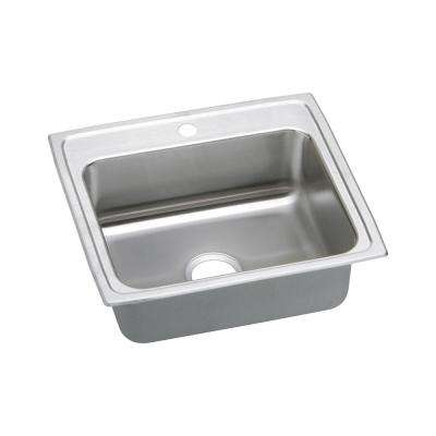 Ertone Drop In Stainless Steel 25 1 Hole Single Bowl Kitchen Sink