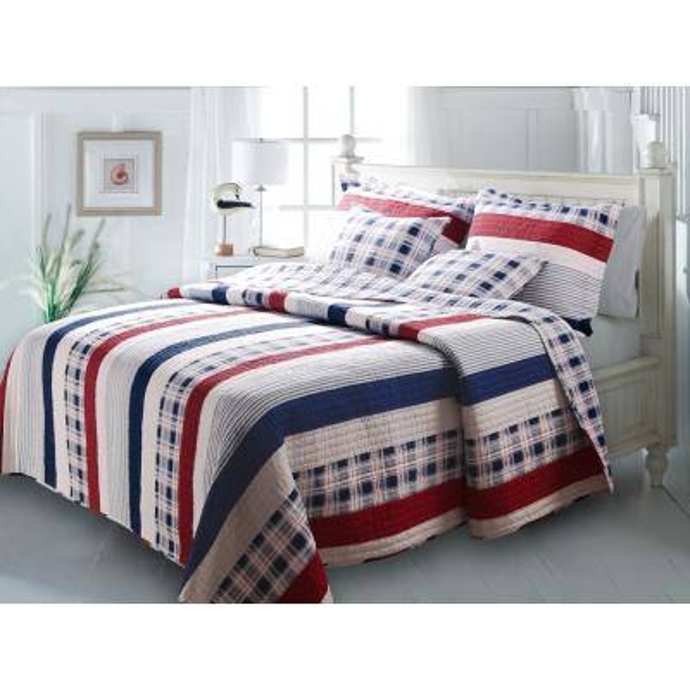 Nautical Stripe 2-Piece Multi Twin Quilt Set