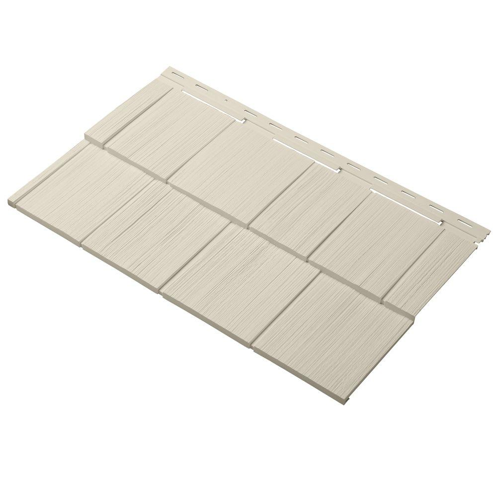 Cedar Dimensions Shingle 24 in. Polypropylene Siding Sample in Sand