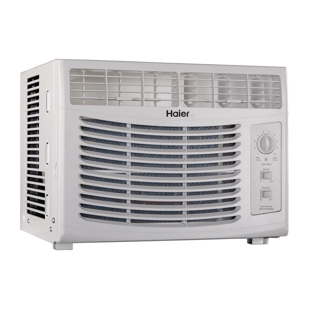 Haier QHV05LZ 5,050 BTU 115-Volt Window Air Conditioner humidty-meters 5,000 115V