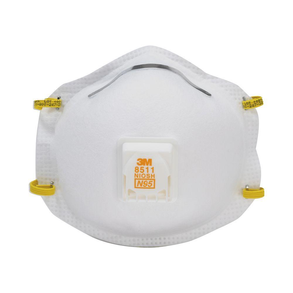 N95 Sanding and Fiberglass Valved Respirator (5-Pack) (Case of 8)