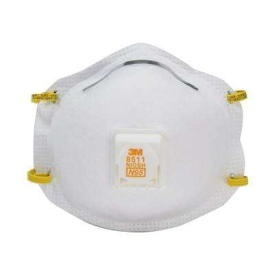 N95 Sanding and Fiberglass Valved Respirator (5-Pack) (Case of 8)