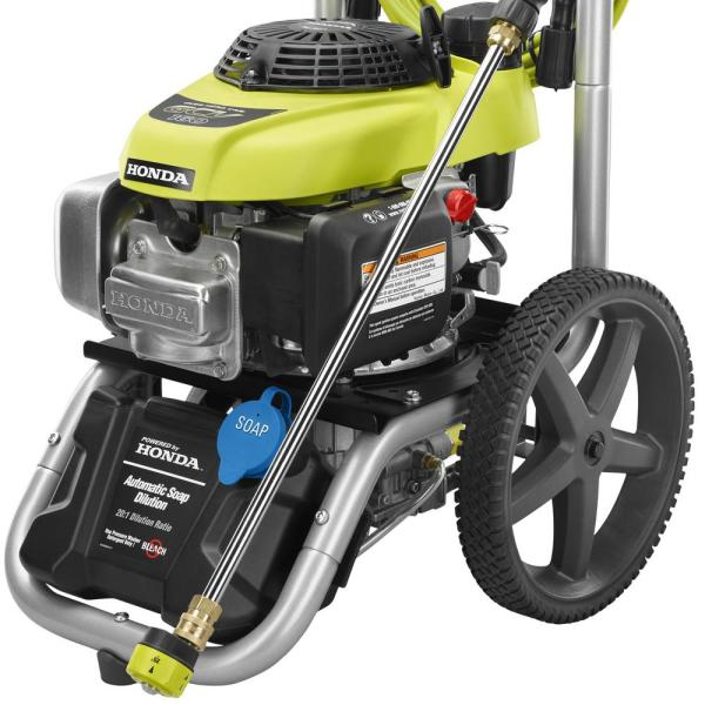 Ryobi 3000 Psi 2 3 Gpm Honda Gas Pressure Washer Ry803001 The Home Depot