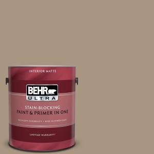 1 gal. #T17-11 Silent Sands Matte Interior Paint and Primer in One