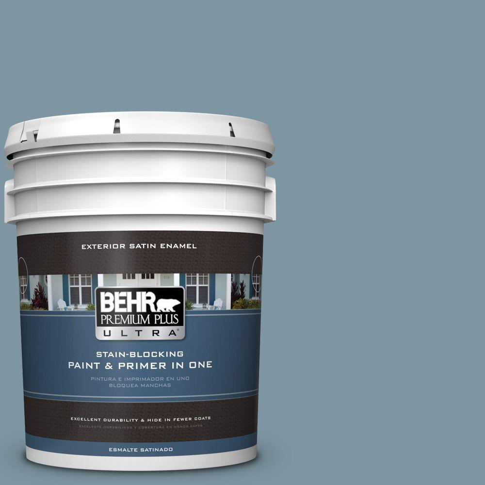 BEHR Premium Plus Ultra 5-gal. #530F-5 Waterscape Satin Enamel Exterior Paint