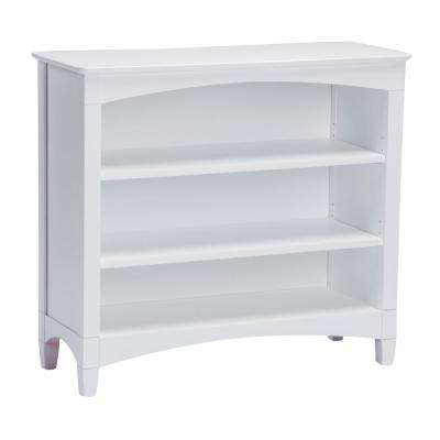 Essex Low White Bookcase