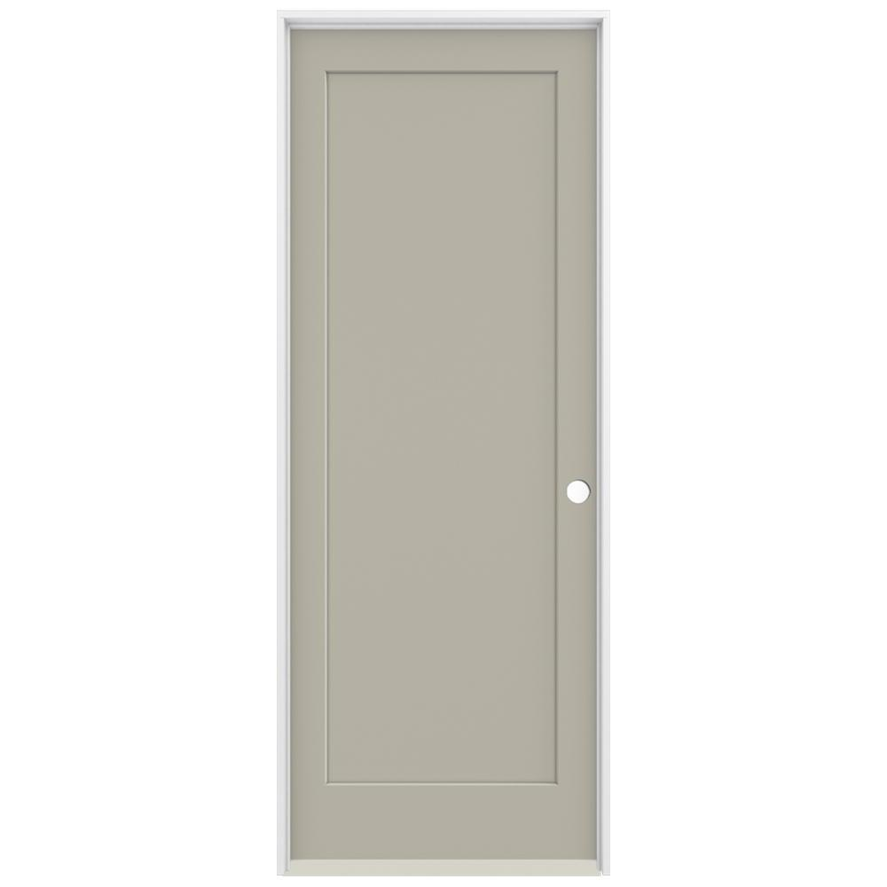 Jeld Wen 36 In X 96 In Madison Desert Sand Left Hand Smooth Solid Core Molded Composite Mdf