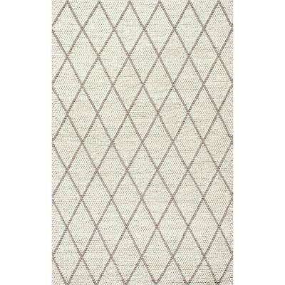 Diamond Trellis Belia Shag Ivory 9 ft. 6 in. x 13 ft. 6 in. Area Rug