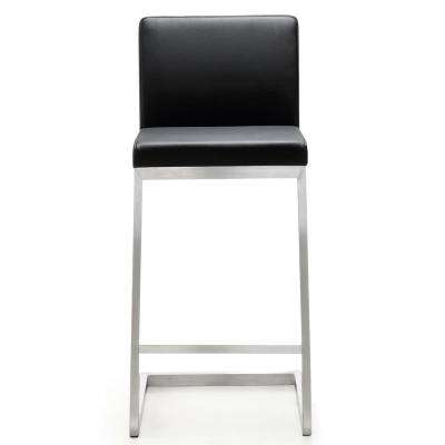 26 in. Parma Black Steel Counter Stool (Set of 2)