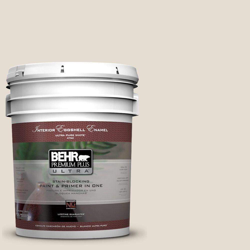 BEHR Premium Plus Ultra 5-gal. #GR-W12 Confident White Eggshell Enamel Interior Paint