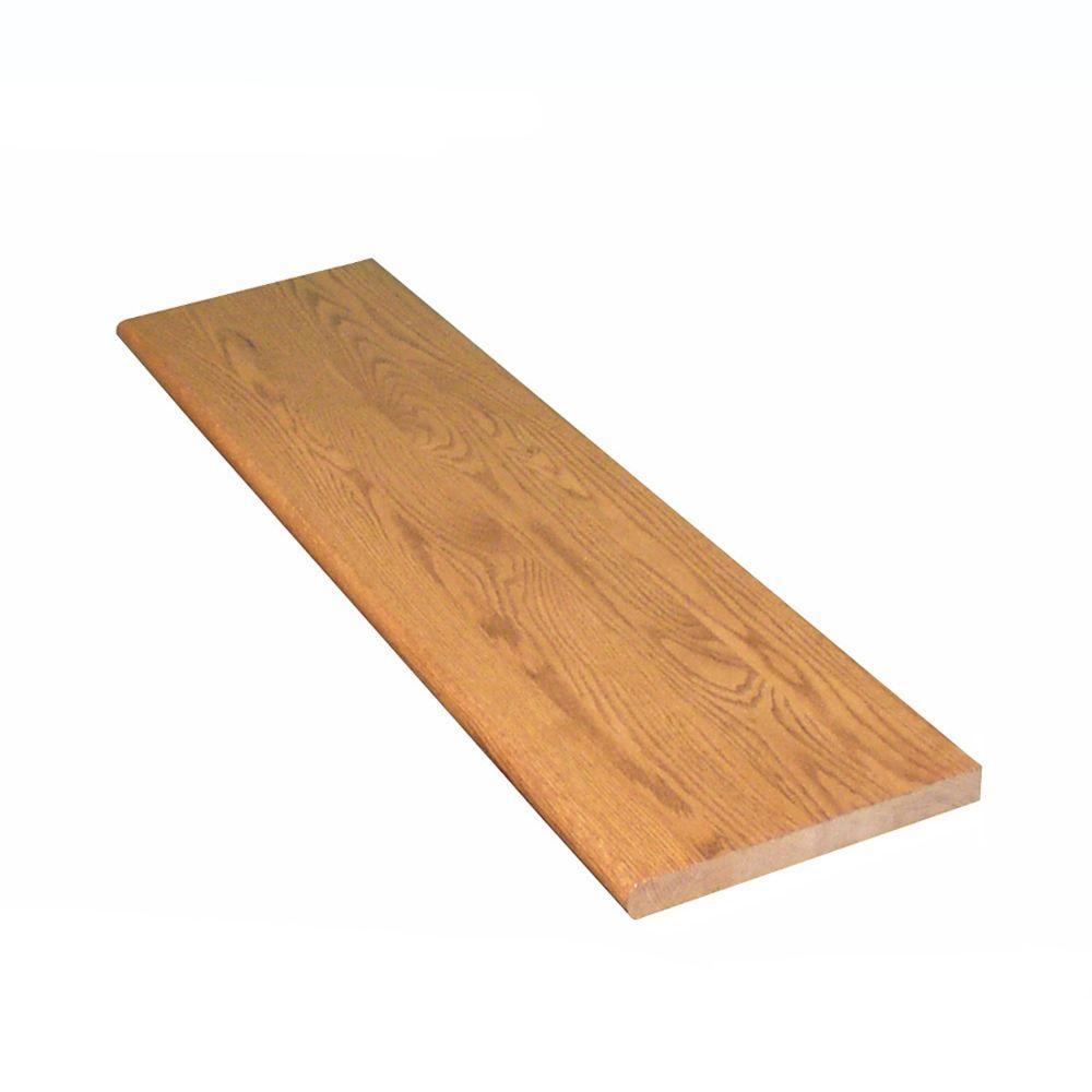 1 in. x 11.5 in. x 60 in. Prefinished Gunstock Red Oak Box Tread