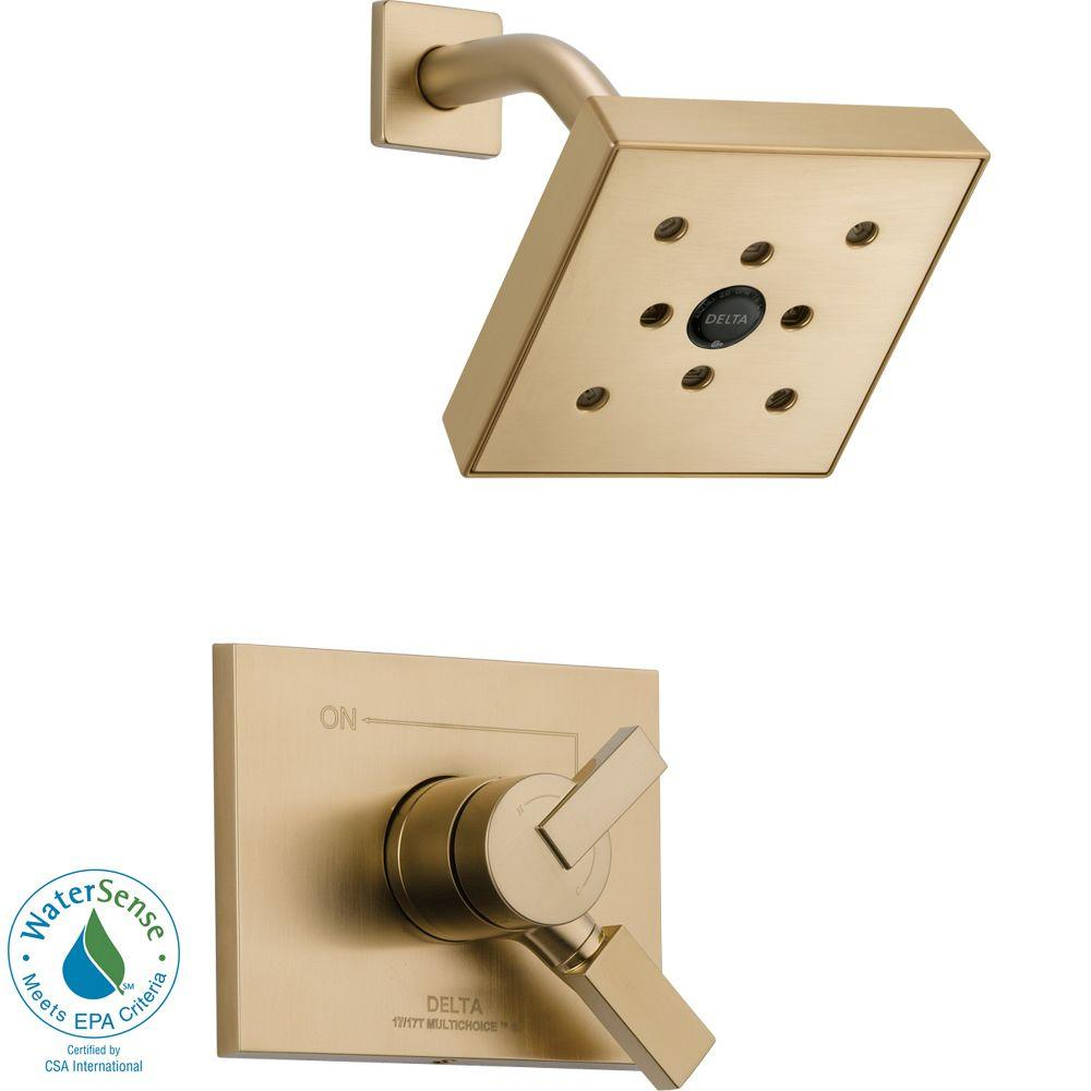 Delta Vero 1-Handle H2Okinetic Shower Only Faucet Trim Kit in Champagne Bronze (Valve Not Included)