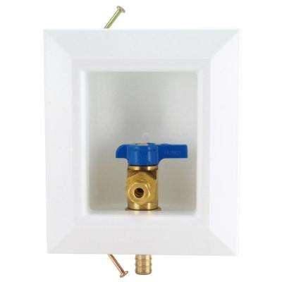 1/2 in. Brass PEX Barb Icemaker Outlet Box